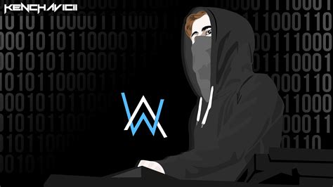 alan walker cartoon alan walker by kenchavicii on deviantart