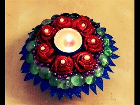 Decorating Home For Diwali 10 Minutes Diy Floral Umbrella Candle Holder With Paper
