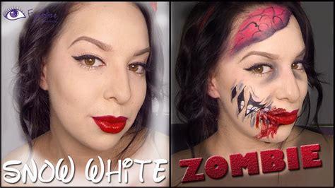 white eyeliner tutorial youtube zombie snow white makeup tutorial by eyedolizemakeup youtube