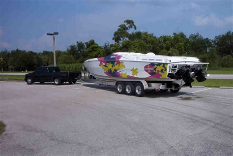 boat hitch pictures what do you tow your 35 ft boat with offshoreonly