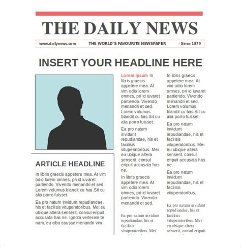 Newspaper Templates 14 Free Word Pdf Psd Ppt Newspaper Article Template Doliquid