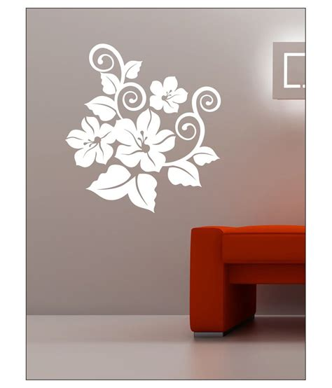 wall stickers buy wall1ders white flower wall sticker buy wall1ders white