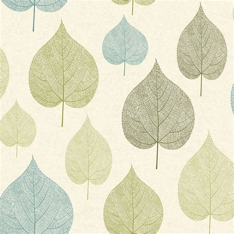 Wallpaper Uk 45cmx10m Silver Leaf crown signature leaf wallpaper green m1071 wallpaper