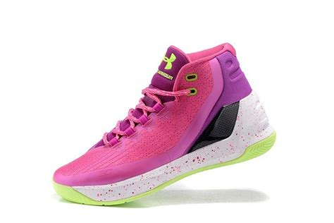 cheap curry 3 pink purple white basketball shoes