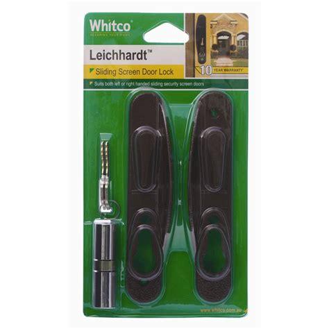 Whitco Door Handles by Whitco Brown Leichhardt Sliding Security Door Lock