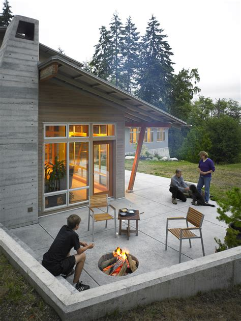 Patios And Firepits Modern Pits Patio Contemporary With Bench Built In Bench Cable Beeyoutifullife