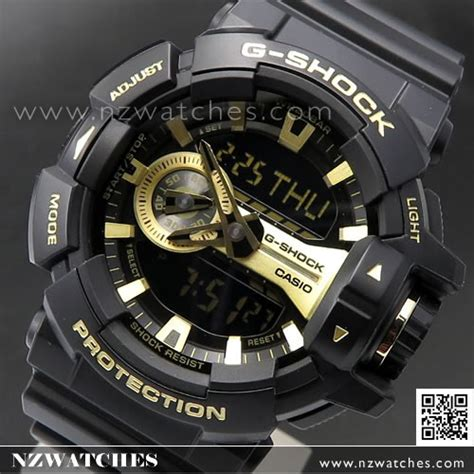 buy casio g shock 200m analog digital black gold sport