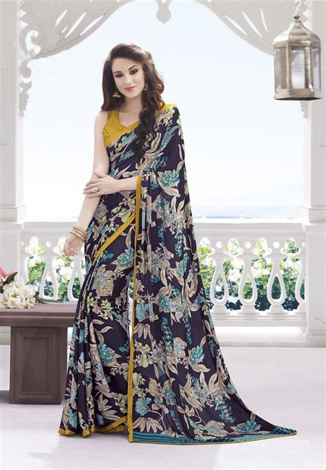 Blouse Deva Sw Blouse Wanita Wool Crepe Navy Serba Murah 1000 images about new arrivals georgette printed sarees fabdeal on indian