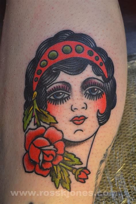 tattoo girl traditional pics for gt traditional girl face tattoo outline