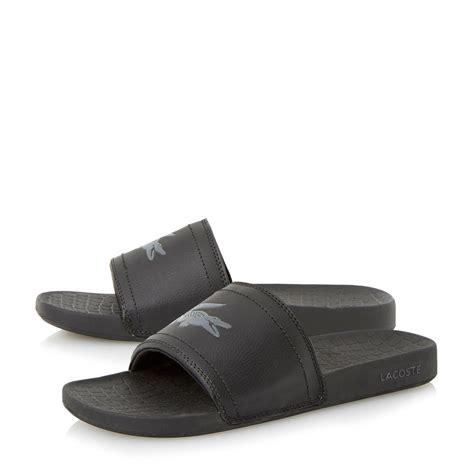 slip in sandals lacoste slip on fraisier casual sandals in black for
