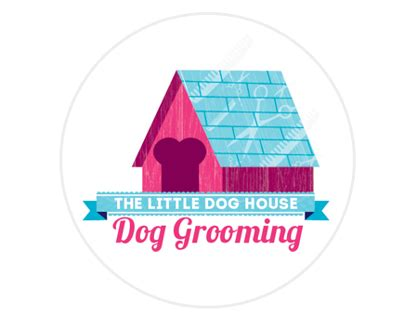 the dog house grooming the little dog house dog grooming corporate identity on behance