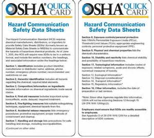 osha sds template hazard communication standard environment health and safety