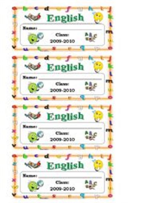 english worksheet name tags for boys english exercise book labels
