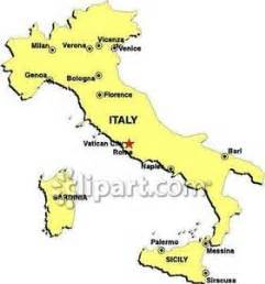 italy map with major cities to land at airport clipart cliparthut free clipart