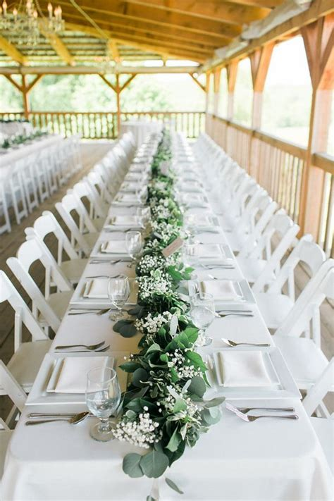 greenery table runner 25 best ideas about greenery centerpiece on