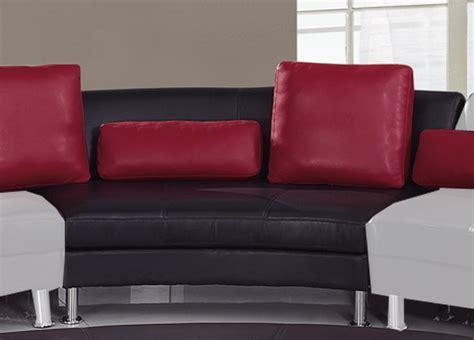 corner sofa usa global furniture usa 919 sectional set a black red gf