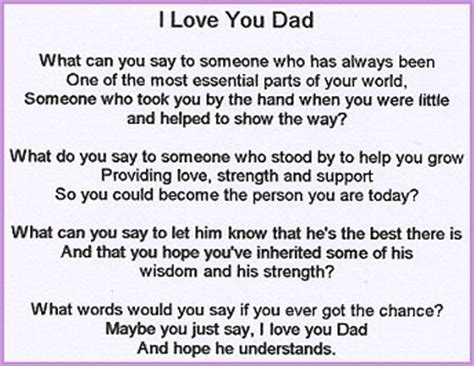 Love my dad poems that will make you cry top images
