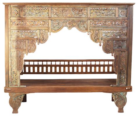 Woven Dining Room Chairs balinese teak canopy bed eclectic canopy beds by