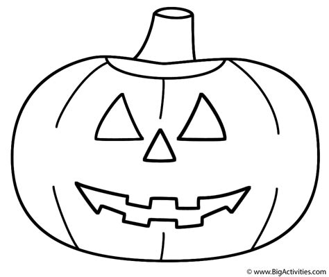 smiling pumpkin coloring pages pumpkin jack o lantern coloring page halloween