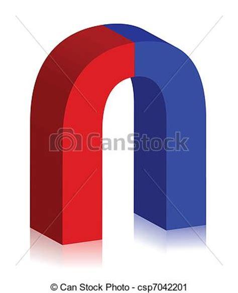 home design 3d magnetism vector clip art of two colored magnet 3d illustration