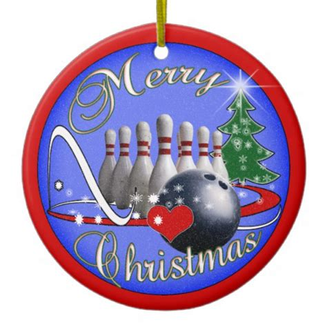 bowling christmas ornament zazzle