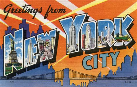 greetings from new york city large letter postcard flickr