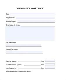 maintenance work order template free maintenance work order form work order template