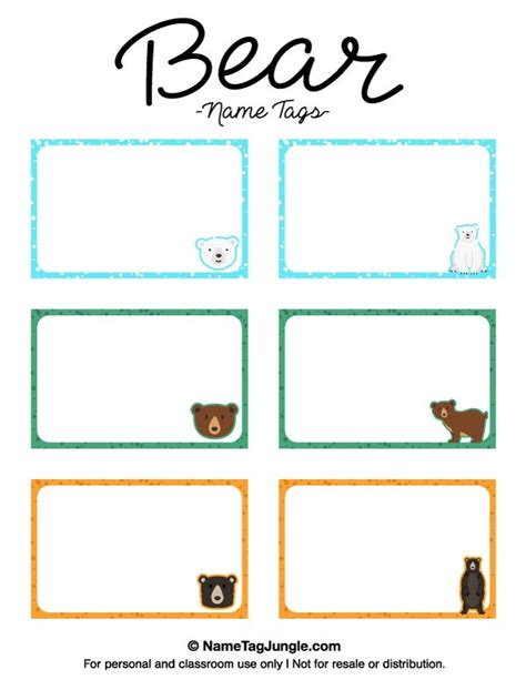 stuffed animal name card template free printable name tags the template can also be