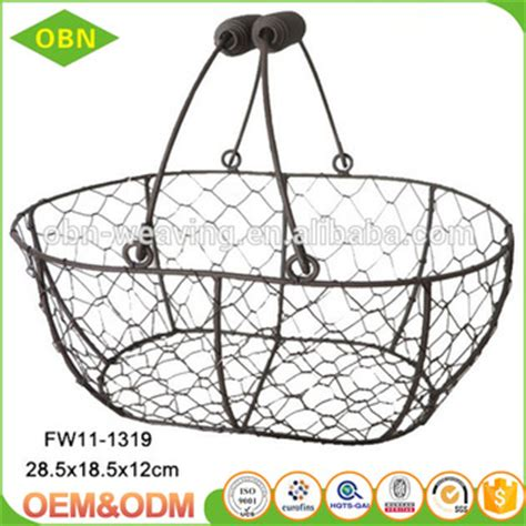 decorative wire baskets wholesale decorative empty wire gift basket wholesale with handle