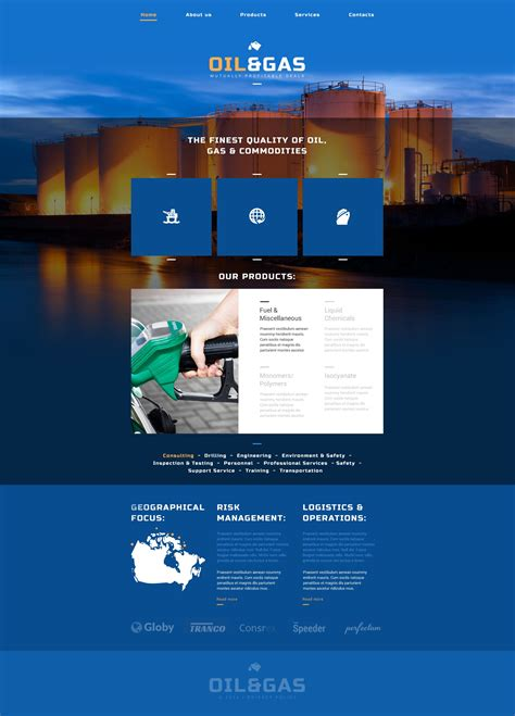 And Gas Company Website Template Oil Gas Company Website Template 52502