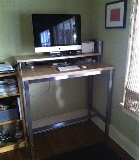 Hack A Standing Desk From Ikea Ikea Standing Desk Hack