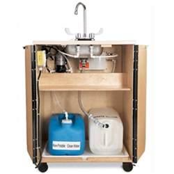jonti craft portable sink water birch wood single