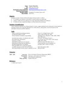 Recent Resume Format by Resume Format Template Design