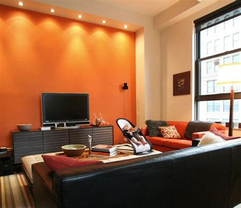 Orange And Black Living Room Ideas by Decoraci 243 N Salas Color Naranja Sala