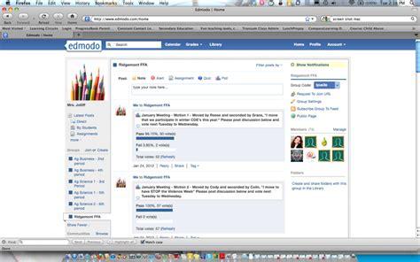 edmodo journal ridgemont ffa holds virtual ffa meeting ohio ag net
