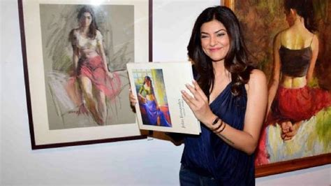sushmita sen latest interview sushmita sen inaugurates master painter the late john