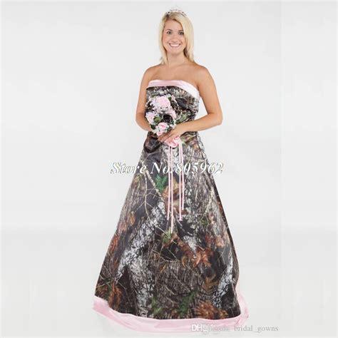 vintage 2015 long camouflage wedding dress strapless