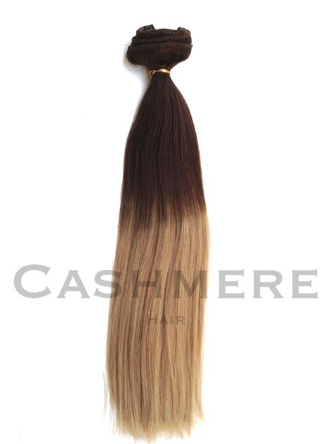 brown clip in hair extensions cashmere hair ombr 201 hair extensions from cashmere hair clip in