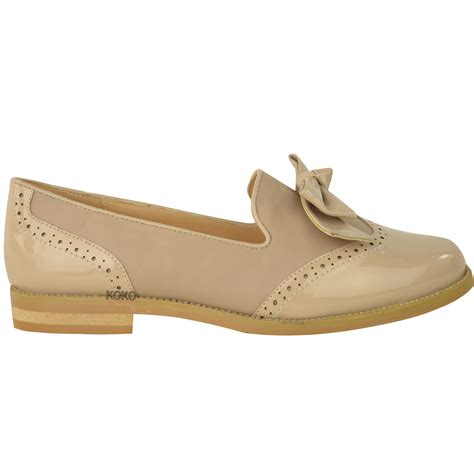 womens loafers shoes flats bow formal work office