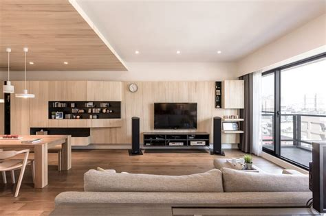 modern apartment celebrates    natural wood
