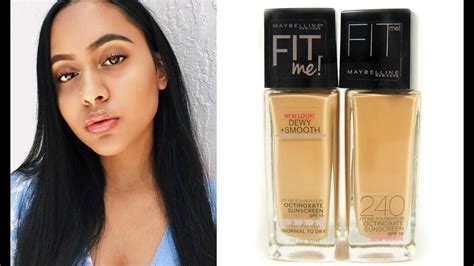 Maybelline Fit Me Foundation Review impressions maybelline fit me foundation 240