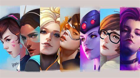 Overwatch Female Heroes K Wallpapers Hd Wallpapers Id