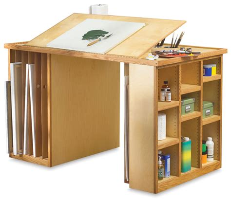 Artist Desk L by Richeson Work Station Blick Materials