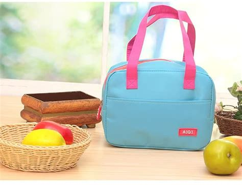 Tas Bekal Cooler Bag Anak aiqi lunch bag tas bekal cooler bag bonus 2pcs jelly