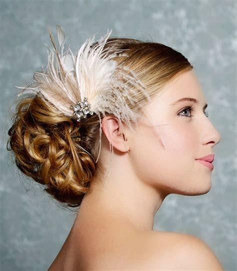 Bridal Fascinator Wedding Head Piece Feather By