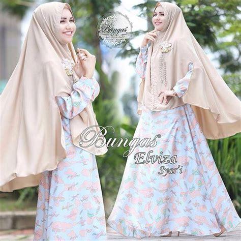Dress Syari Soft Maxmara Arina gamis syar i terbaru motif bunga elviza by bungas