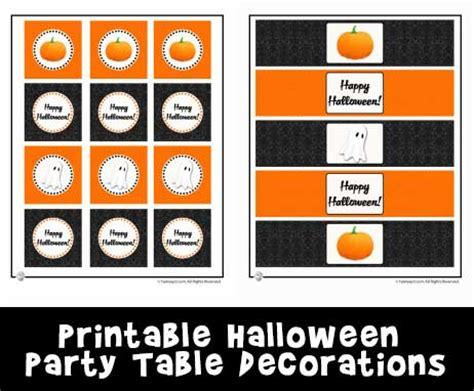 free printable halloween table decorations fun and free halloween party table printable decorations