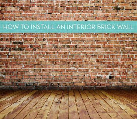 Interior Veneer Installation by 25 Best Ideas About Brick Veneer Wall On Thin