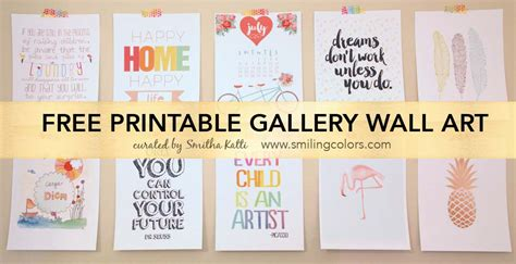 Free Printable Wall Art Decor | printable gallery wall art that will make your room look