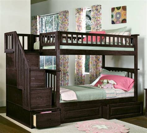 bed with stairs and storage home design 81 captivating bunk beds with stairs and